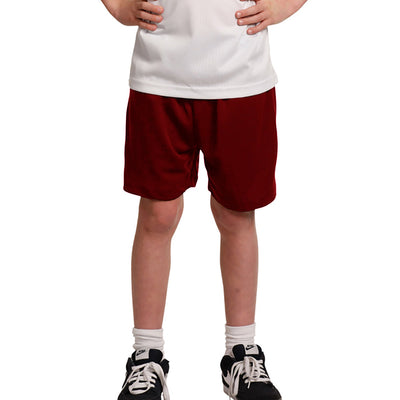 "Kid's ""1775"" Stylish Polyester Sport's Short-Red-BE616"