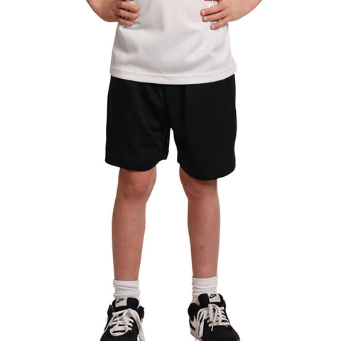 "Kid's ""1775"" Stylish Polyester Sport's Short-Black-BE617"