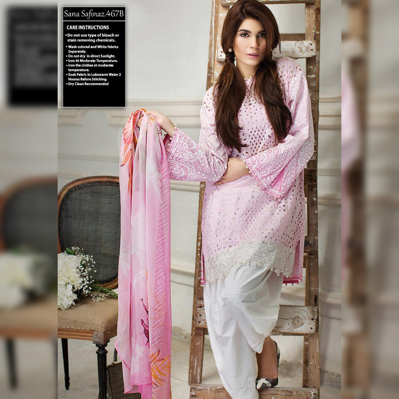 Sana Safinaz Lawn Collection 3 Piece Un-stitch Suit For Ladies-NA8918