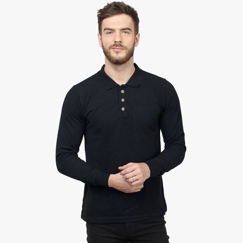 Next Polo Shirt For Men With Pocket -Dark Navy-BE2278