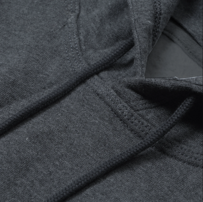 New Stylish Fleece Pullover Hoodie For Men-Charcoal Melange With Panels-SP1661