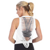 brandsego - Popular Sports Viscose Laser Cut Open Back Tank Top For Women-Dark Maroon-BE9656