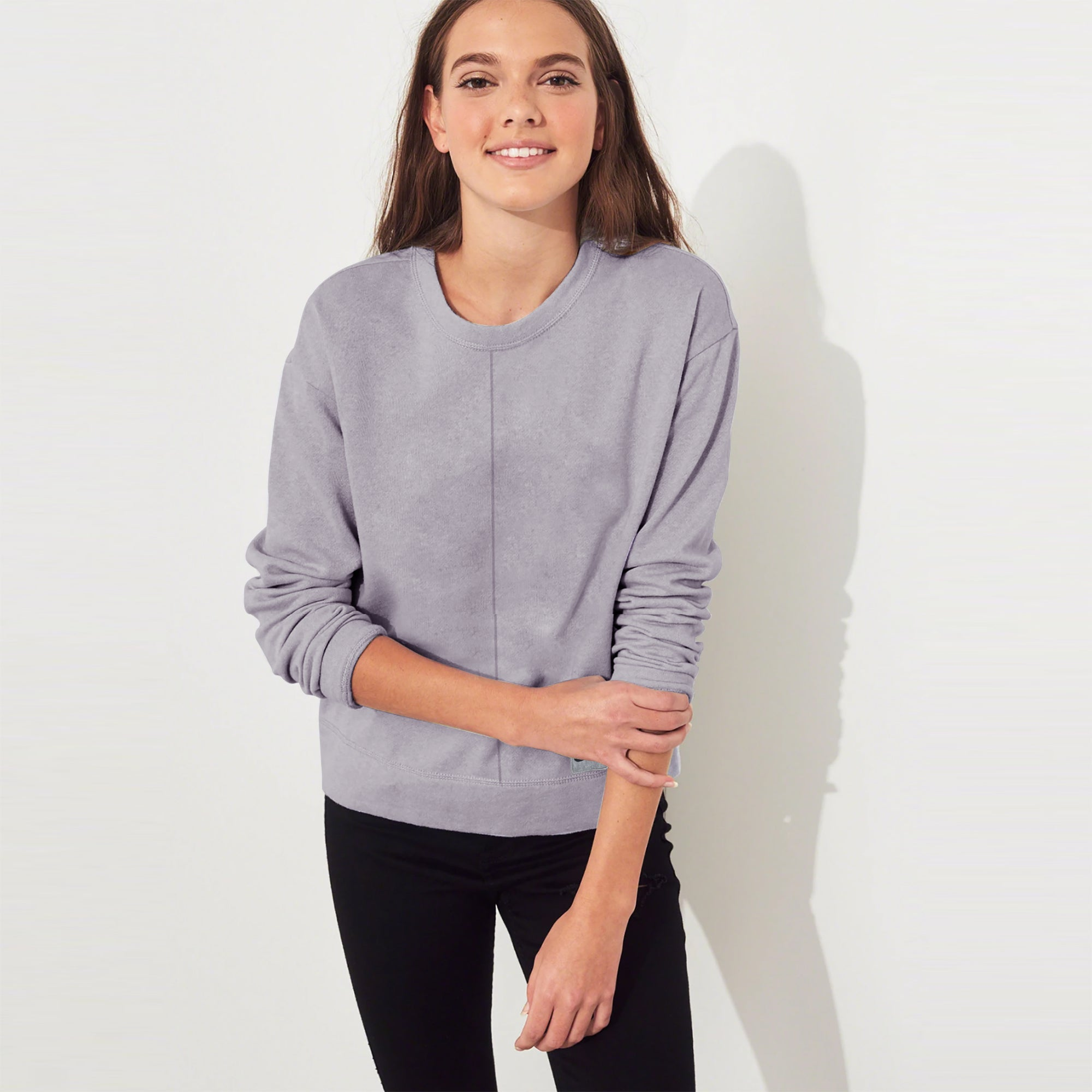 NK Terry Fleece Sweatshirt For Women-Dark Lavender Blush-SP1131