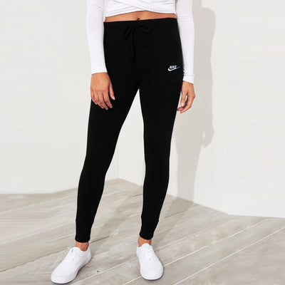 NK Fleece Slim Fit Jogger Trouser For Ladies-Black-SP991