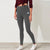 NK Fleece White & Charcoal Embroidery Slim Fit Jogger Trouser For Ladies-Charcoal Melange-SP992