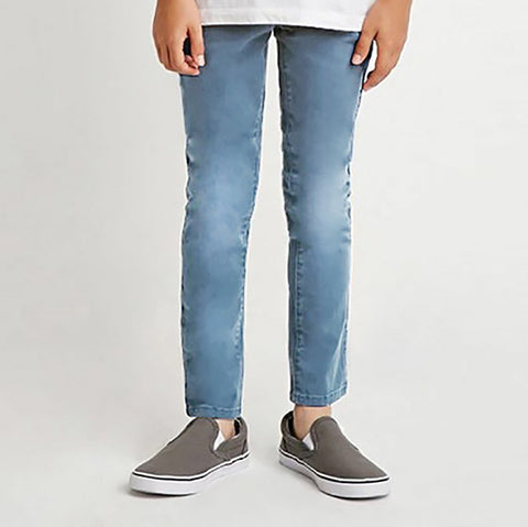 "Kid's ""Stoneage"" Stylish Strech Denim Sky Faded Wash - KD04"
