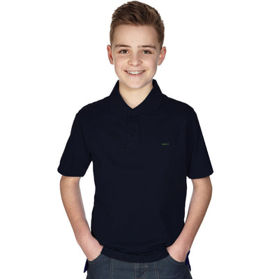 Basic Polo Shirts For Kids-Dark Navy-BE1000