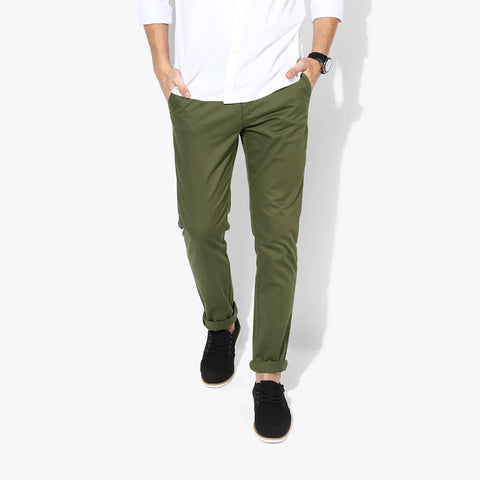 "Men's ""Zara Man""  Slim Fit Cotton Strech Denim-Green-ND26"