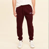 NK Terry Fleece Dark Maroon & White Embroidery Jogger Trouser For Boys-Dark Maroon-SP1074