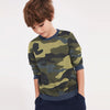 Tommy Hilfiger Terry Fleece Crew Neck Sweatshirt For Kids-Camouflage-SP1374