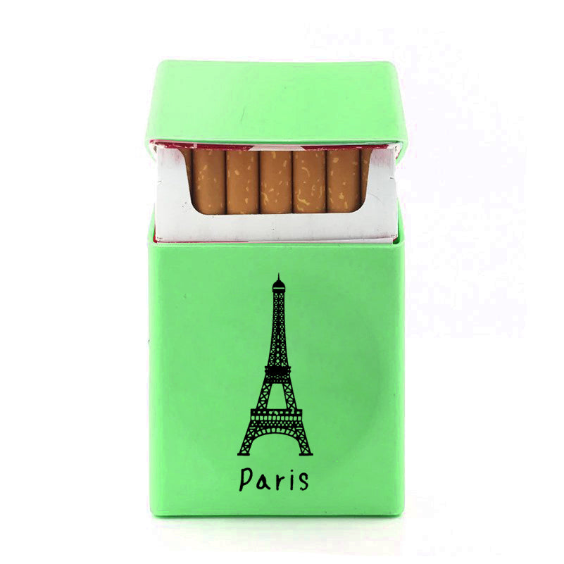 New Paris Badge Silicone Cigarette Case Cover-Parrot Green-NA12277