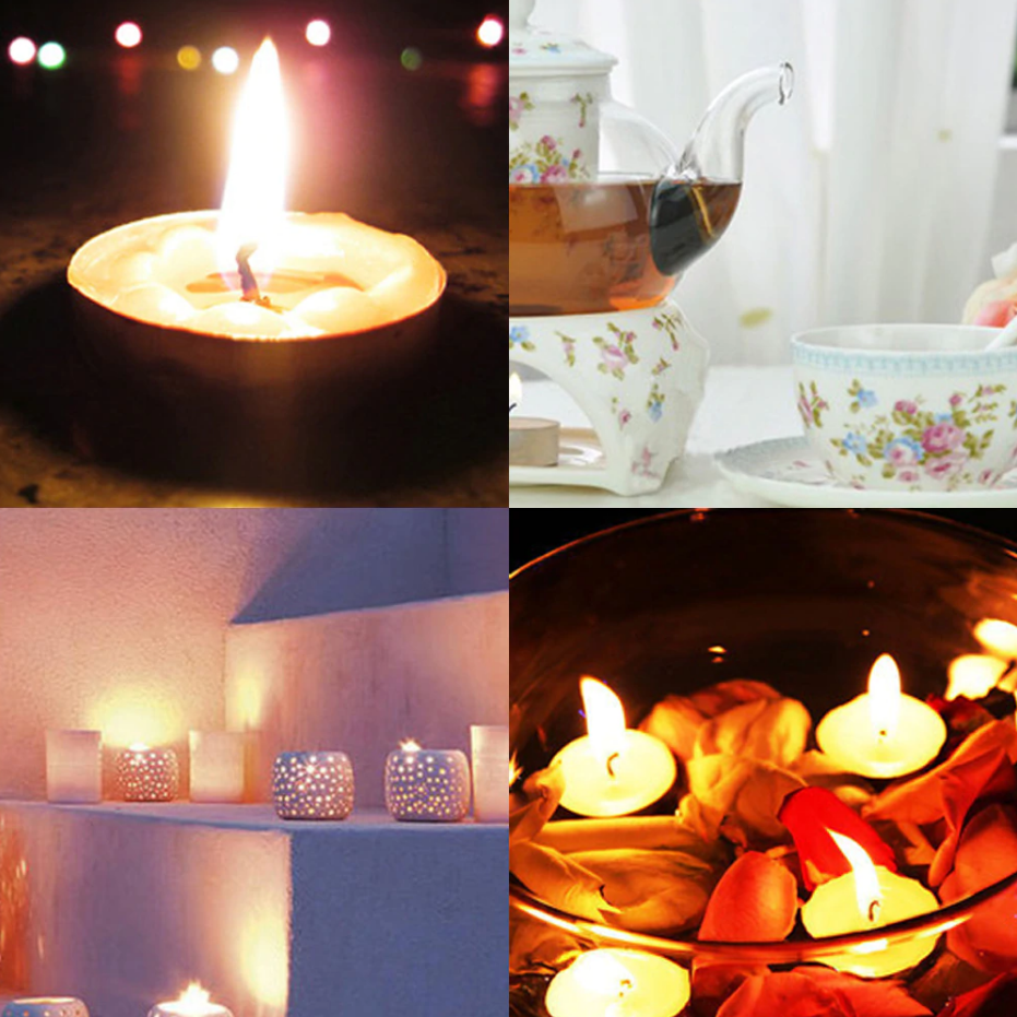 brandsego - 1 Pcs 5 Color Flameless Candles Light Tea Candles-Assorted-NA9230