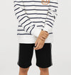 NEXT Single Jersey Short For Kids-Black-SP926