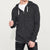 NEXT Thermal Zipper Hoodie For Men-Charcoal Melange-BE3781