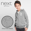 Next Full Fur Zipper Hoodie For Kids-Gray Melange-NA149