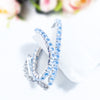 Silver Wedding Bridal Crystal Diamante Rhinestone Stretch Hand Bracelet-NA8107