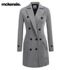 McKenzie Stylish Long Trench Coat For Ladies-Grey-NA6728