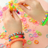 brandsego - Rainbow Colored Rubber Band Bracelets-SK0447