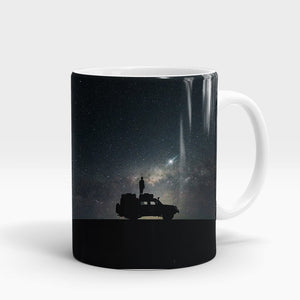 Space Car Printed Mug-NA5792