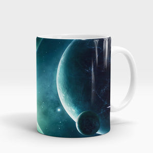 Space Planet Light Printed Mug-NA5806