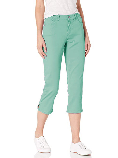 Springfield Slim Fit Stretch Capri For Ladies-Light Robin-F178
