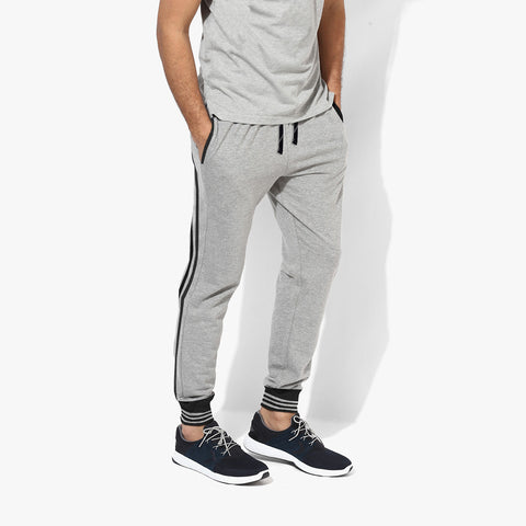 Adidas Jogger Trouser For Men-Gray-ADT02