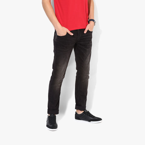 "Men's ""Zara Man"" Slim Fit Strech Denim Rosy Red Faded -ND51"