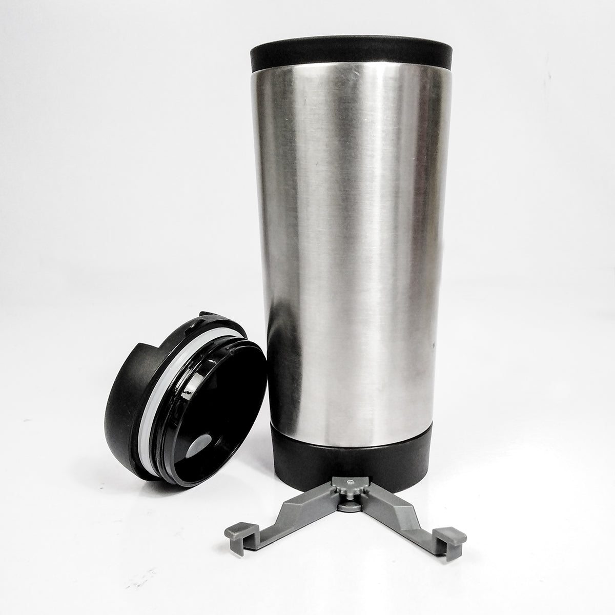 Stainless Steel Mug With Mobile Holder REFLECTS-NA7886