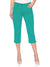 Stooker Slim Fit Stretch Capri For Ladies-Sea Green-F177
