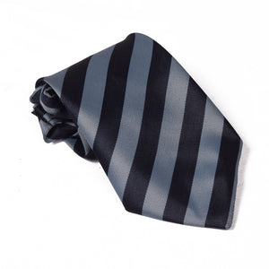 Stripe Silk Tie For Boys-NA1039