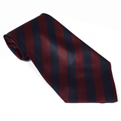 Stripe Silk Tie For Boys-NA1041