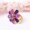 Stylish Flower Style Metal Ring For Women-NA5146