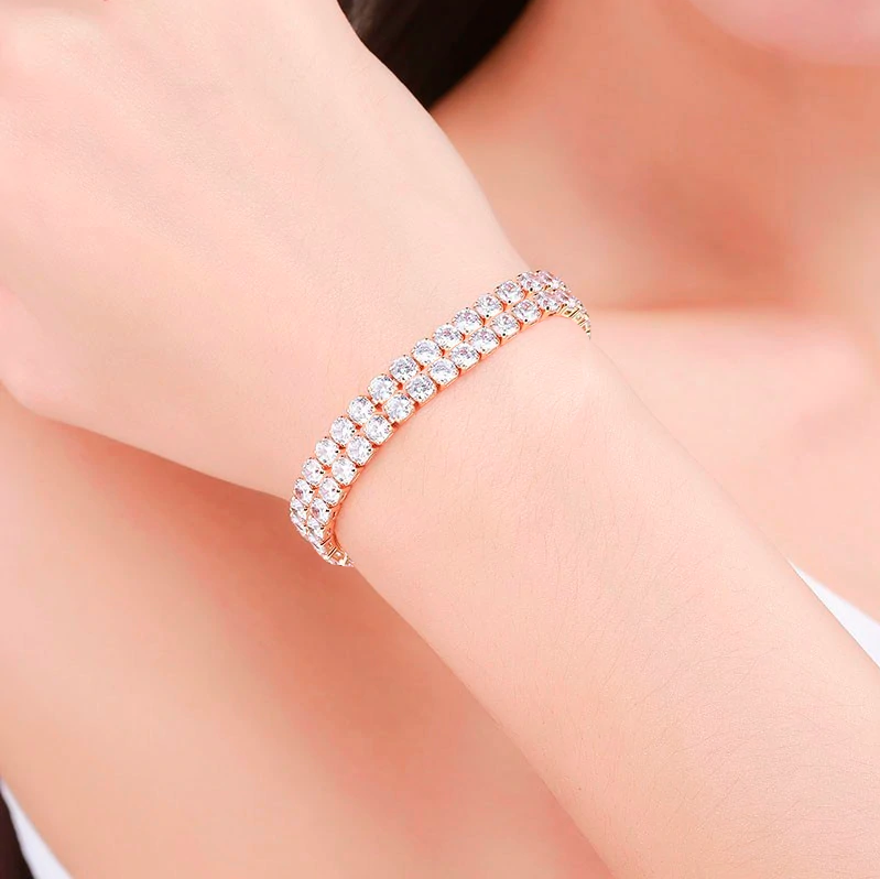 Stylish RIVIERA DIAMOND Hand Bracelet For Ladies-NA8109