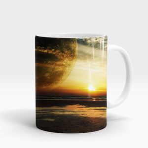 Sunset Sea Ring Printed Mug-NA5789