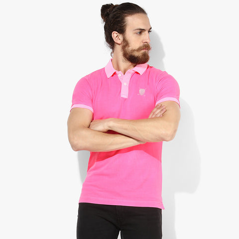 Fat Face Polo For Men Cut Label-Pink-BE2327