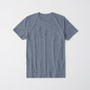 Superior Crew Neck Tee Shirt For Men-Blue Melange-NA8211