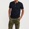 Superior Single Jersey Henley Half Sleeve Tee Shirt For Men-Navy-NA8573