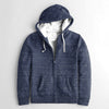 Fat Face Full Fur Inside Zipper Hoodie For Men-Blue Melange-NA7497