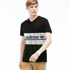 Adidas V Neck Single Jersey Short Sleeve Tee Shirt For Boys-Black-SP1864