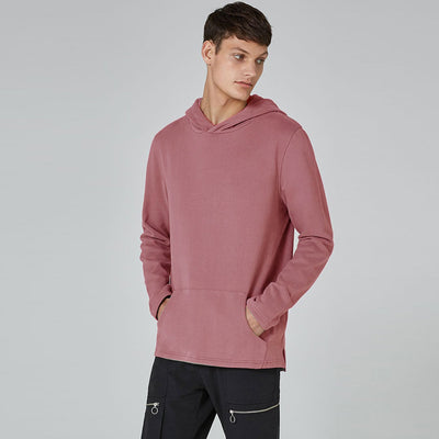 brandsego - F&F Pullover Fleece Hoodie For Men-Light Red-BE3496