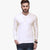 Next Henley Long Sleeve T Shirt For Men-White-BE6097