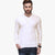 Next Single Jersey Henley Full Sleeve Shirt For Men-White-BE5652