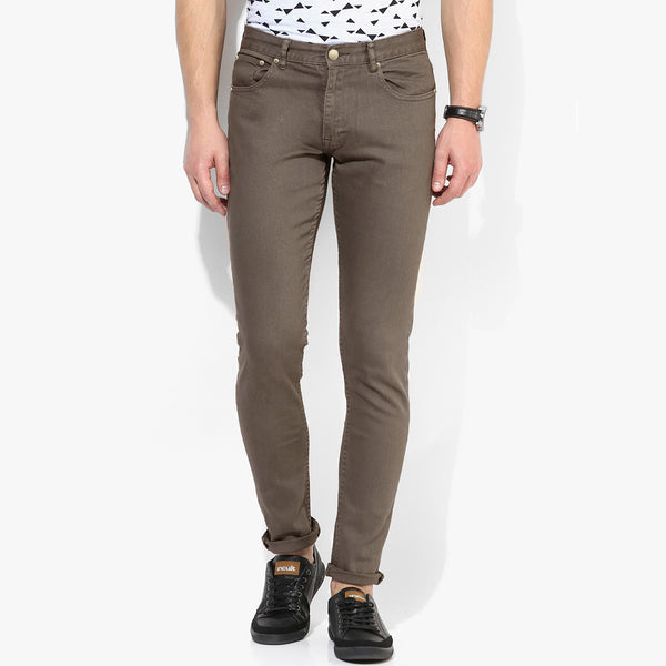 Men's Mango Slim Fit Strech Denim Camel - MD03