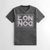 The Square Mile Premium Single Jersey Tee Shirt For Men-Dark Grey Melange-NA9626