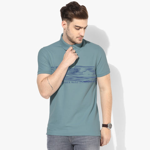 Fat Face Polo Shirt For Men Cut Label-Bond Blue-BE691