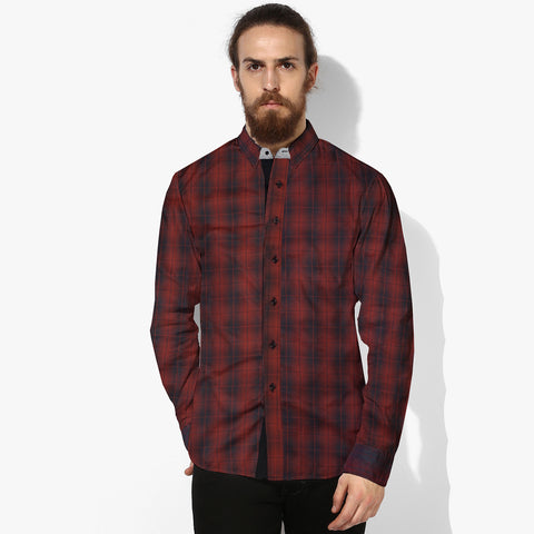 Eyedeology Casual Shirt For Men-Premium Quality Red & Black Check -ECS10