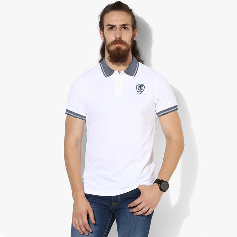 Fat Face Polo For Men Cut Label-White-BE2320