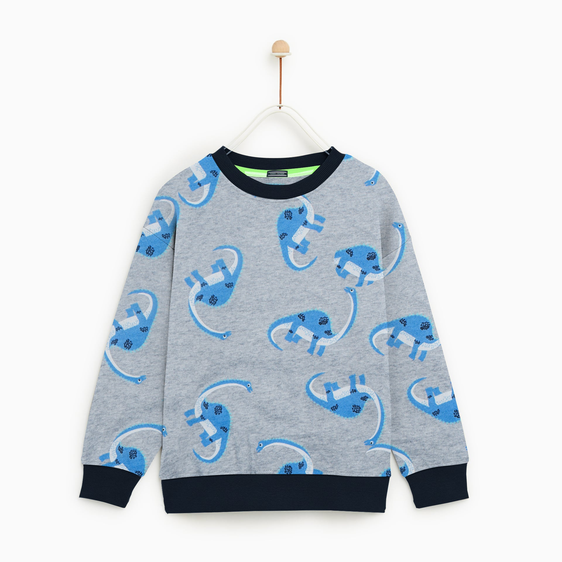 Tommy Hilfiger Crew Neck Fleece Sweatshirt For Kids-All Over Printed-NA7742