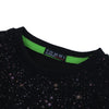 Tommy Hilfiger Crew Neck Fleece Sweatshirt For Kids-Black & All Over Printed-NA7505