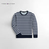 Tommy Hilfiger Crew Neck Terry Fleece Sweatshirt For Kids-Dark Navy & White Striper-NA10665